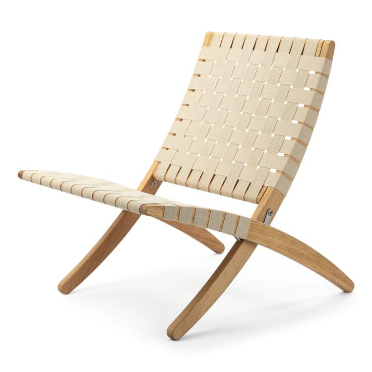 Folding Chair Oak Wood, Ecru