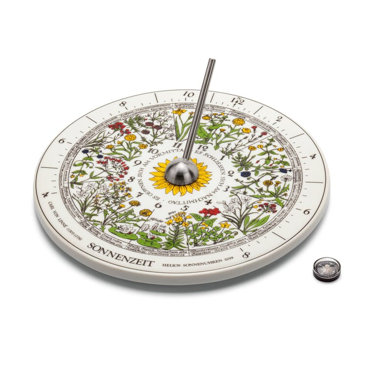 Porcelain Sundial with Flower Clock
