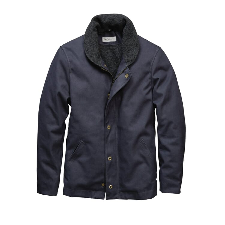 Men's Boat-Deck and Field Jacket Made of Wool-Lined Canvas