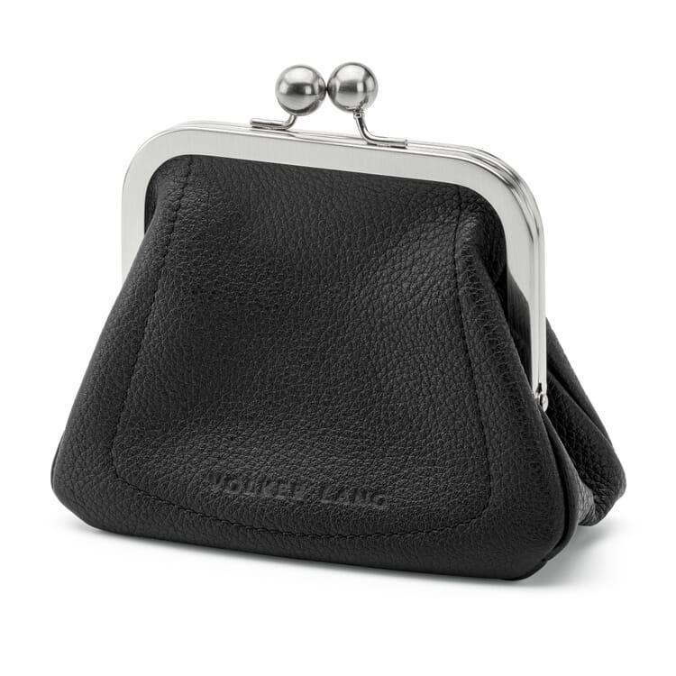 Large Wallet Made of Deerskin, Black