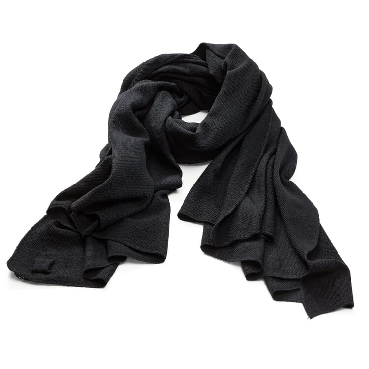 Men's Knitted Triangle Scarf, Black