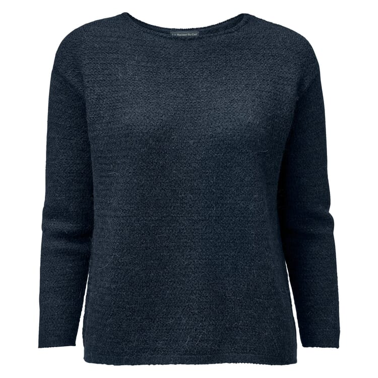 Damen-Oversizepullover Alpaka, Blau