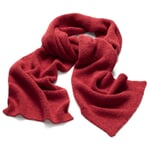 Damenstrickschal Alpaka Rot