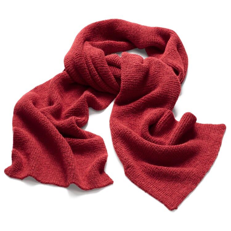 Damenstrickschal Alpaka, Rot