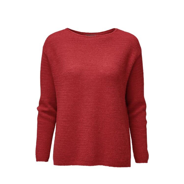 Damen-Oversizepullover Alpaka, Rot