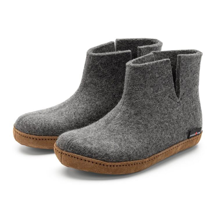 Unisex Ankle-Length House Shoe Made of Wool Felt