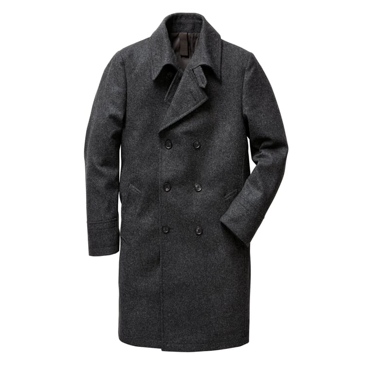 Men's Double-Breasted Overcoat Made of Loden