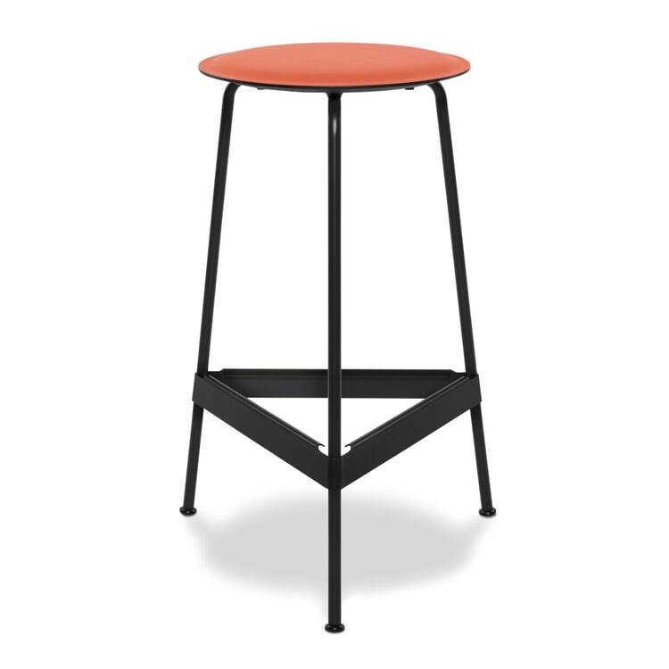Barhocker Ravioli, klein Sitz: Orange / Gestell: Schwarzgrau RAL 7021