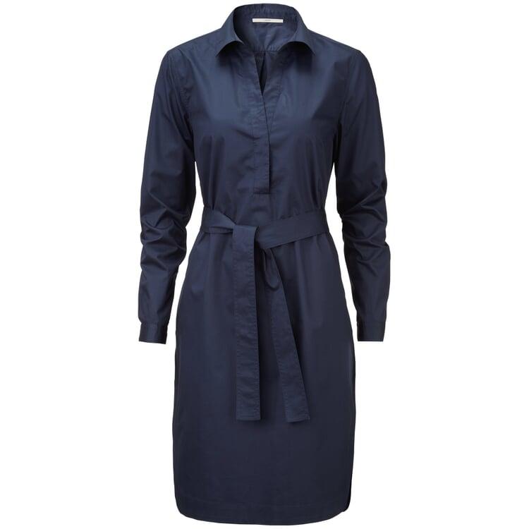 Damen-Hemdblusenkleid Blau