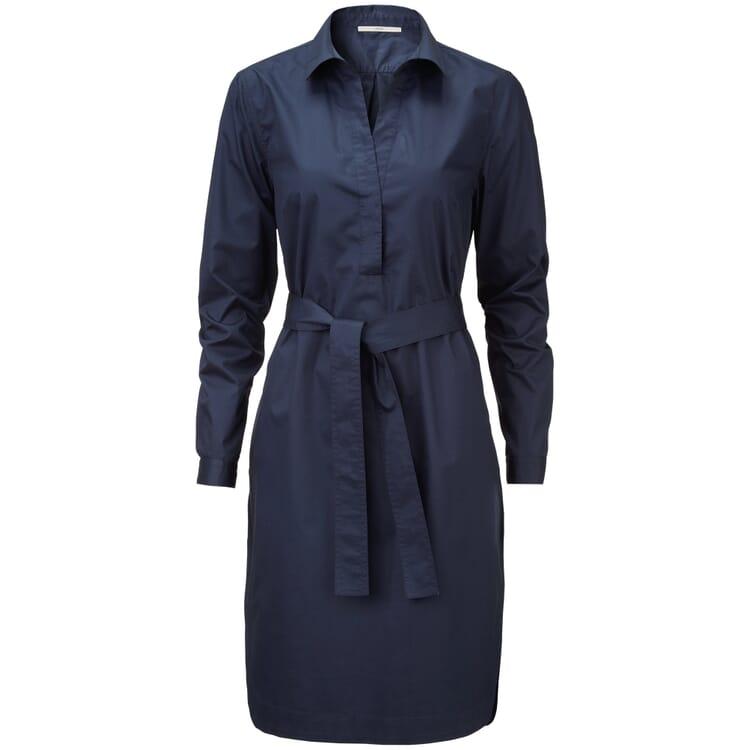 Damen-Hemdblusenkleid, Blau