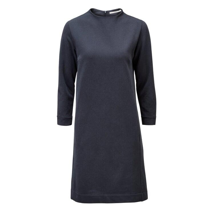 Damen-Jerseykleid Dunkelblau