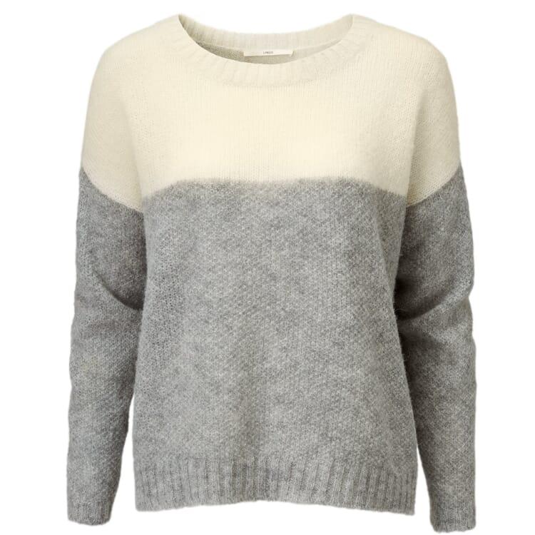 Damen-Oversizepullover, Creme-Grau