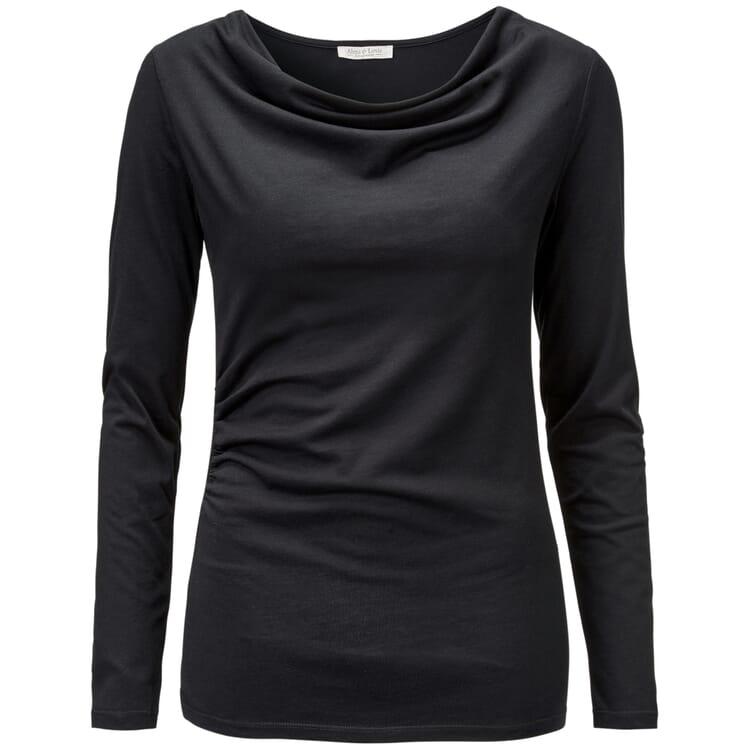 Damen-Shirt Cascade, Schwarz