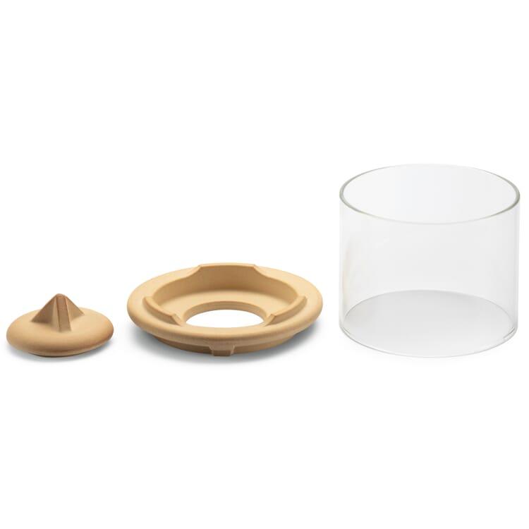 Windlichtaufsatz für kleines Schmelzfeuer® Keramik, Natur