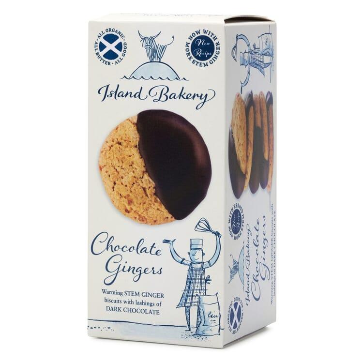 Schottische Bio-Schokoladen-Ingwer-Kekse