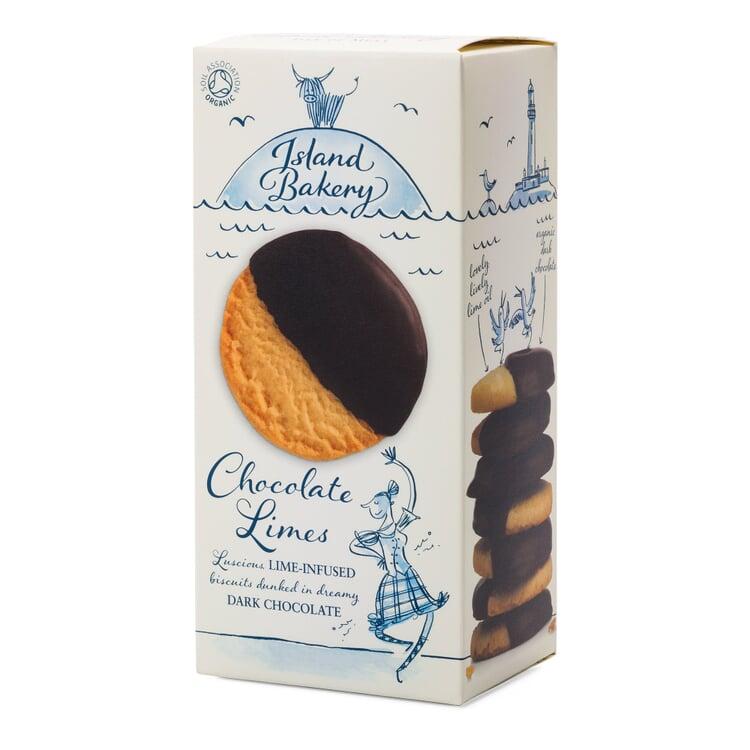 Schottische Bio-Schokoladen-Limonen-Kekse
