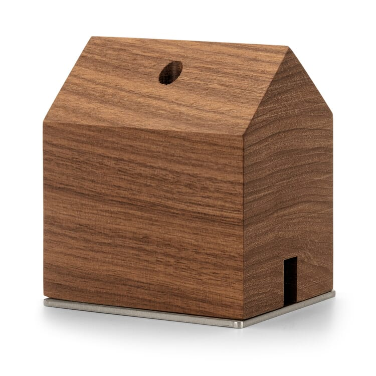 Incense Smoker in Form of a Small Hut, Walnut Wood