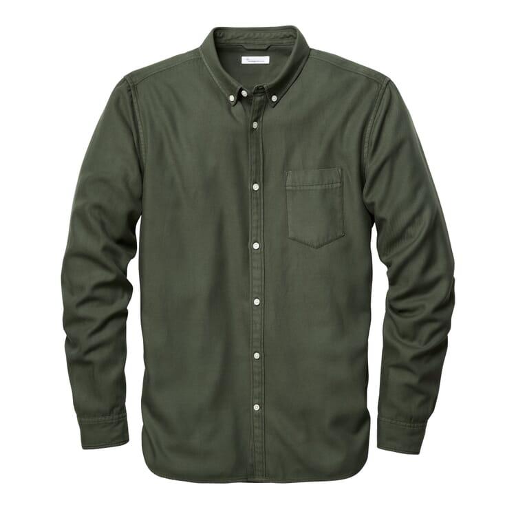 Herrenhemd Tencel™-Baumwolle, Grün