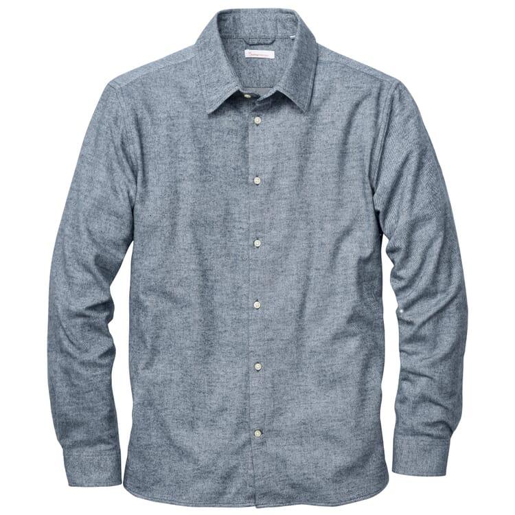 Herren-Flanellhemd, Blaumelange