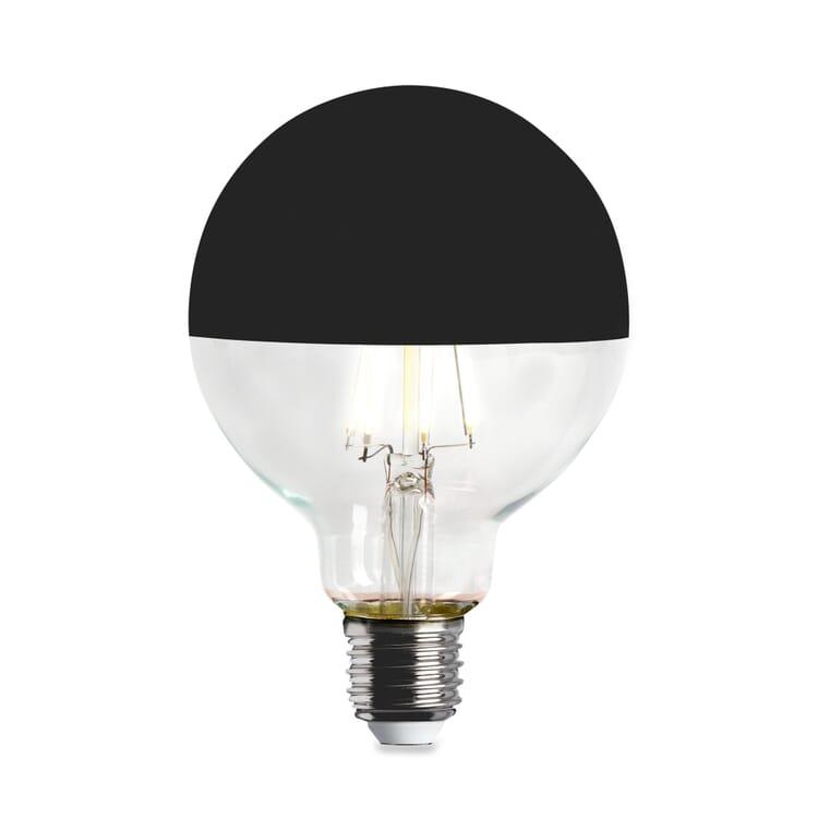 LED-Kopfspiegellampe Globe, Schwarz