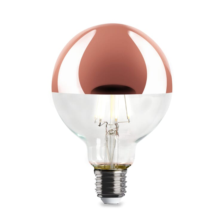 LED-Kopfspiegellampe Globe, Kupfer