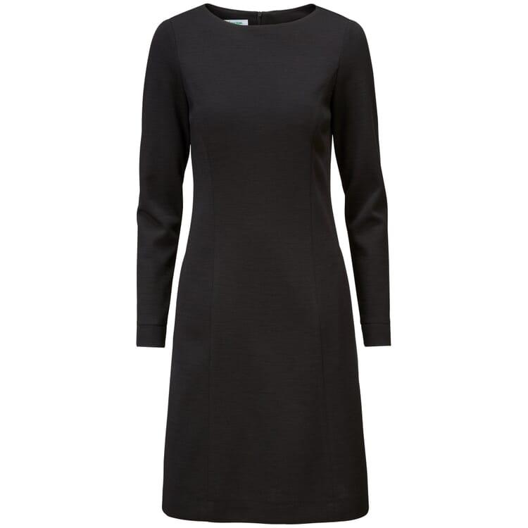 Damen-Jerseykleid, Schwarz