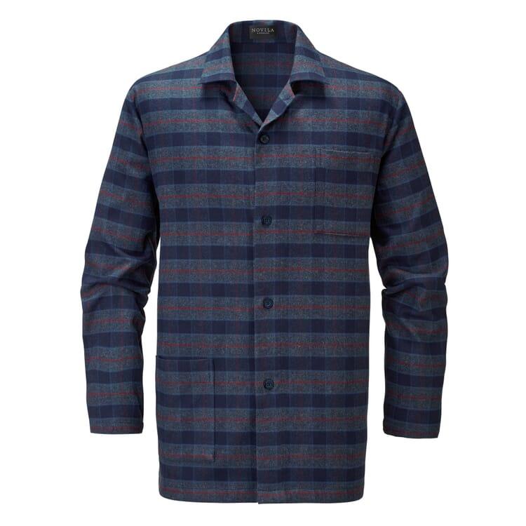 Men's Flannel Pyjamas, Blue-Red