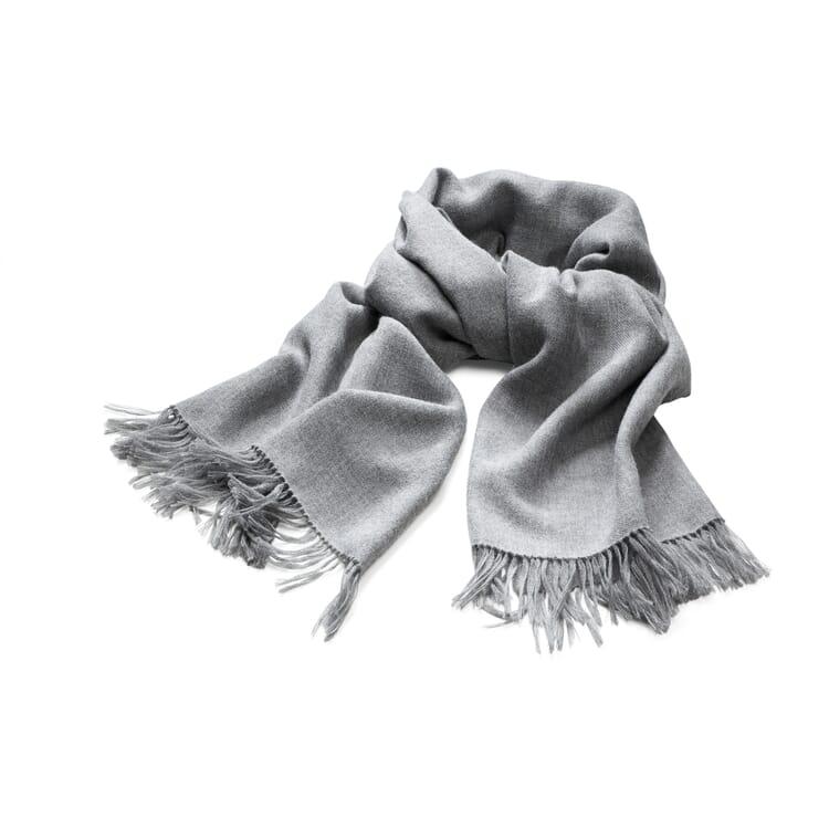 Women's Scarf Made of Alpaca, Light Grey