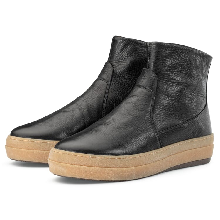 Women's Back-Zip Ankle Boots with Loden Lining