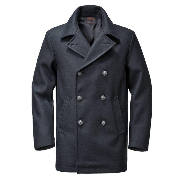 Herren-Pea-Coat, Dunkelblau