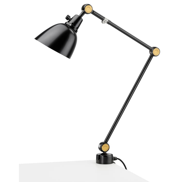 """Desk Lamp """"Modular"""" with 3 Joints by Midgard, With Table Clamp"""