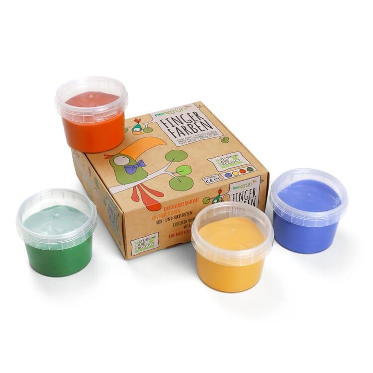 Fingerfarben 4er-Set Grundfarben