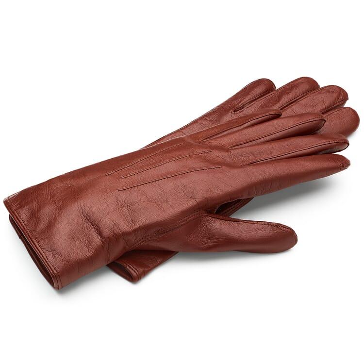 Women's Leather Glove Made from Hair Sheepskin