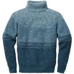 Men's Sweater Made of Donegal Yarns Blue-Green
