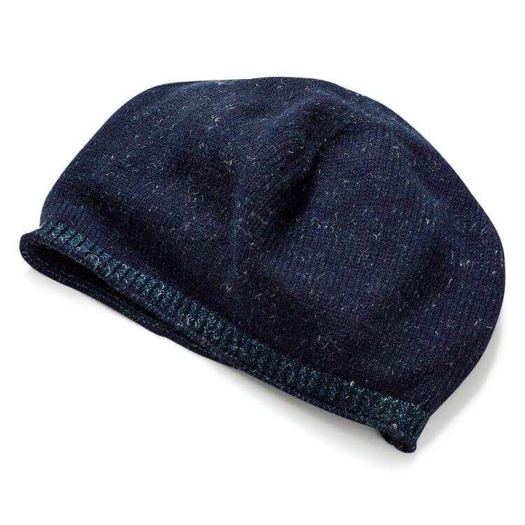 Strick-Beanie Unisex, Blau-Grün