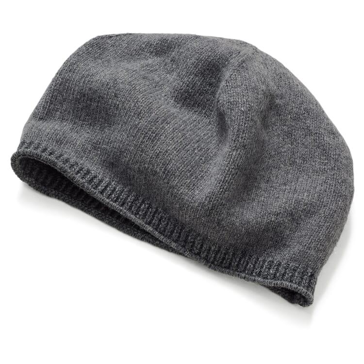 Unisex Knitted Beanie, Grey-Anthracite