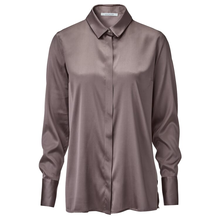 Women's Silk Blouse, Taupe
