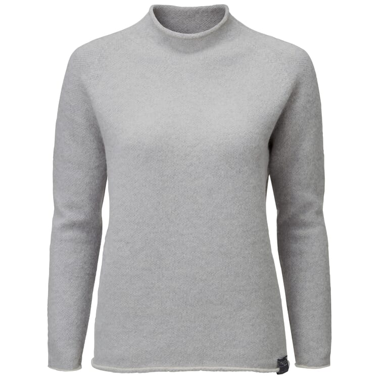 Women's Sweater with a Banded Collar