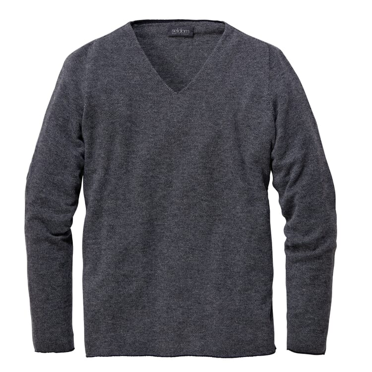 Men's Sweater Made of Merino Wool, Blue