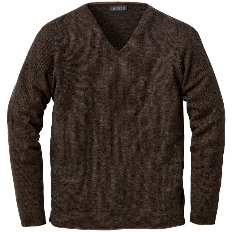 Men's Sweater Made of Merino Wool, Brown