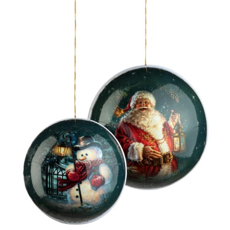 Pappkugel Weihnachten 2er-Set
