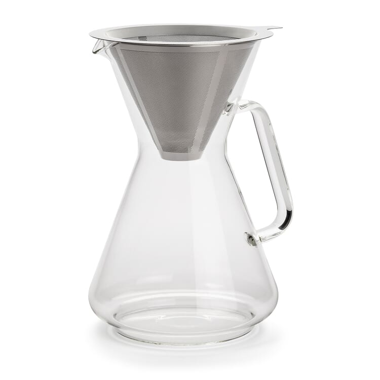 Coffee Maker with Permanent Filter Borosilicate Glass
