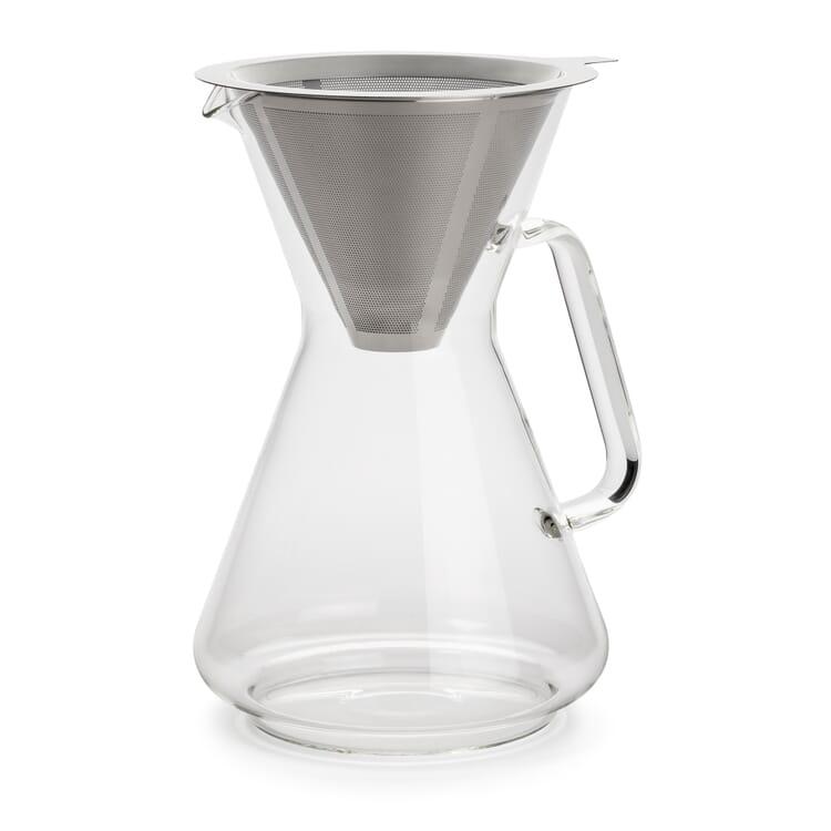 Kaffeebereiter mit Dauerfilter Borosilikatglas