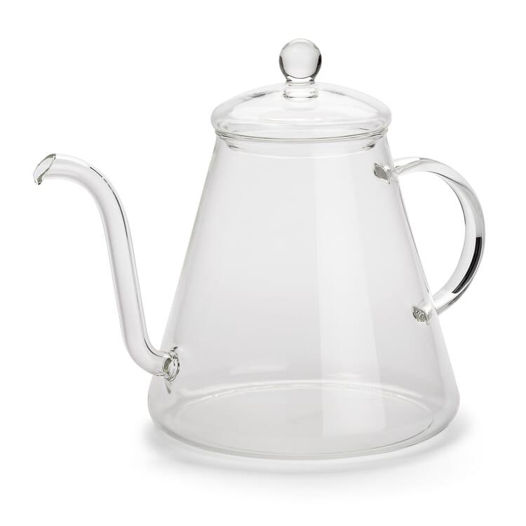 Schwanenhalskessel Borosilikatglas