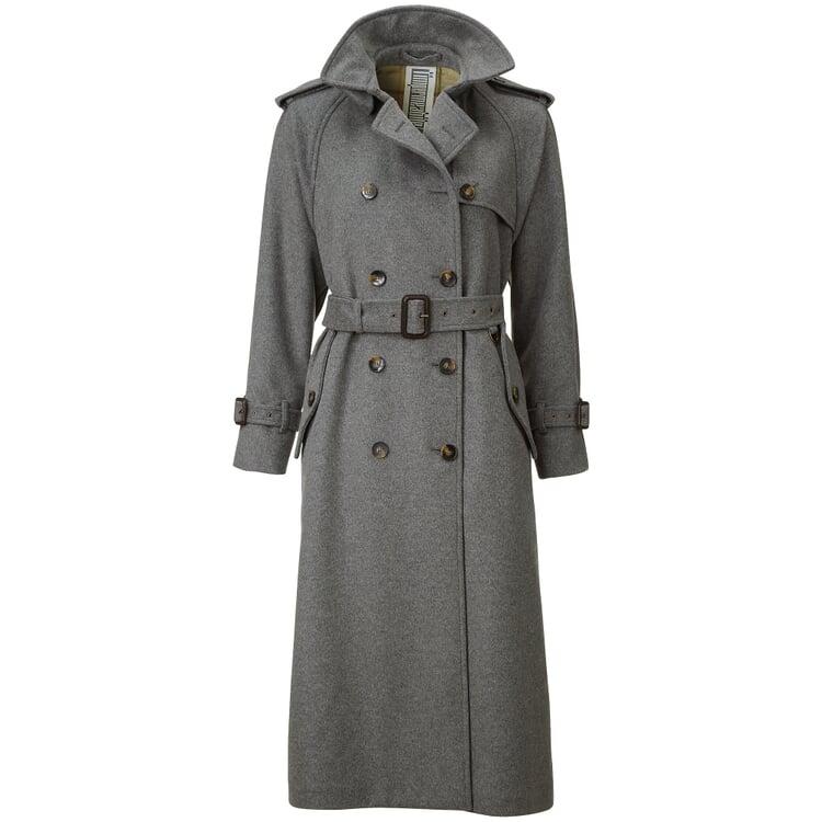 Damen-Trenchcoat lang Grau
