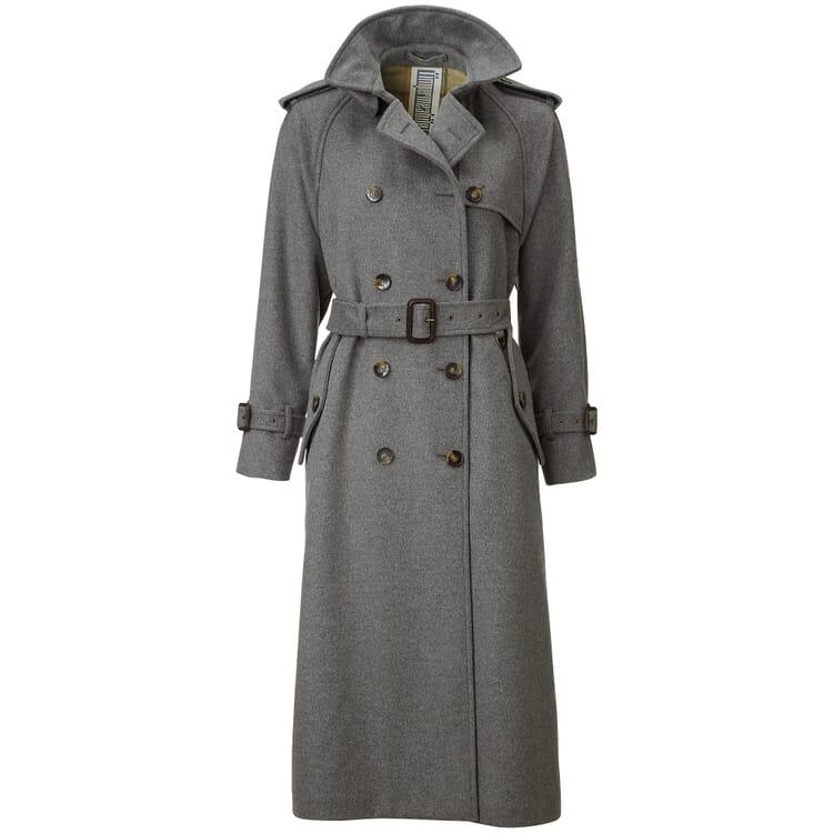 Damen-Trenchcoat lang, Grau