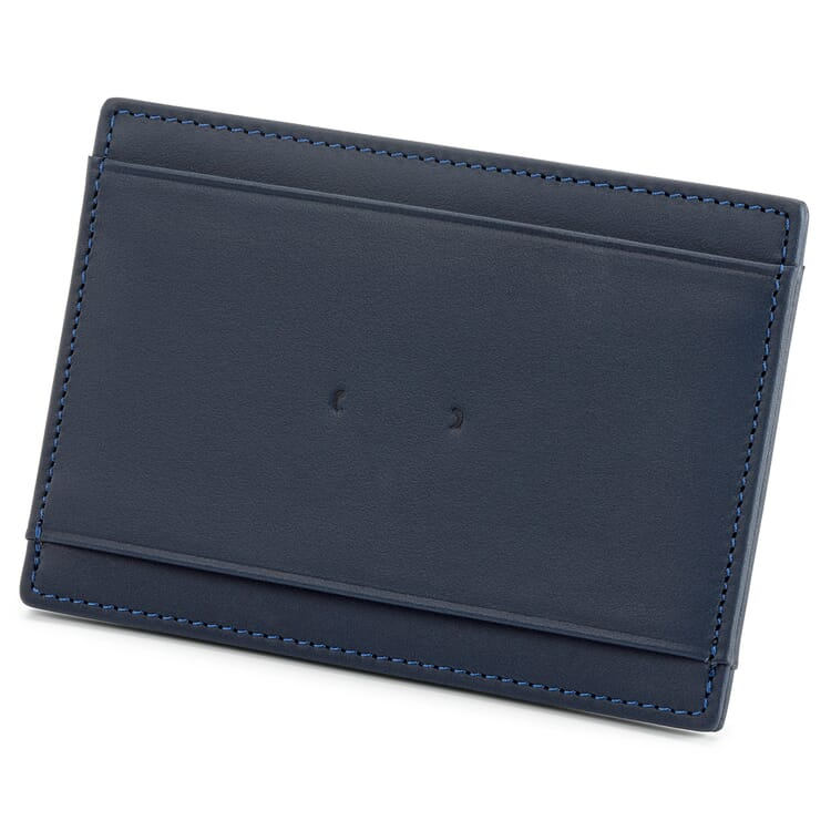 Card Case Made of Cowhide, Navy