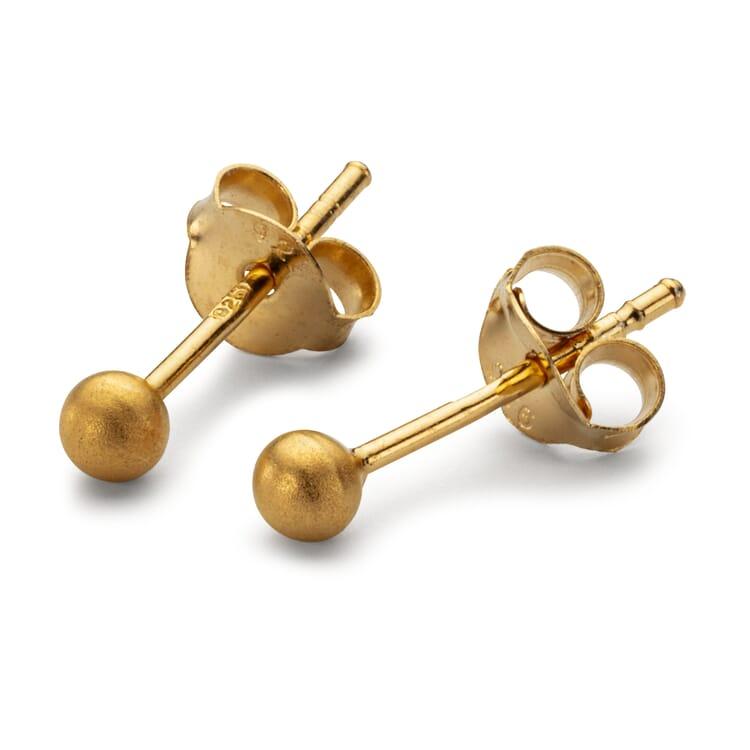 Ohrstecker Satin-Ball, Gold