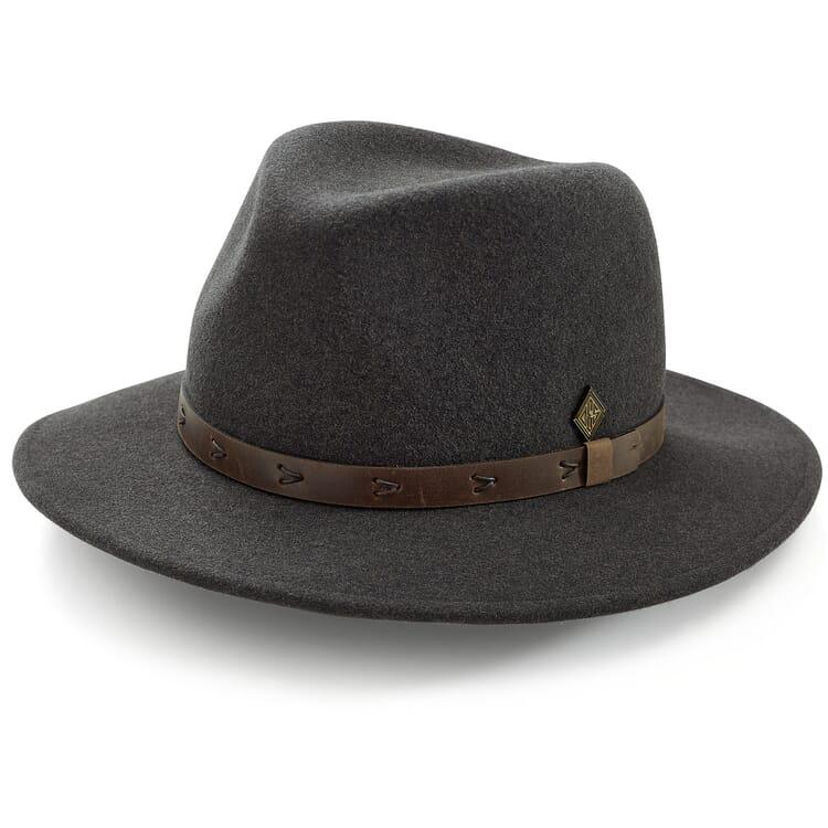 Men's Fedora Hat Made of Wool Felt