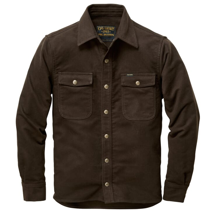 Men's Shirt Jacket Made of Moleskin